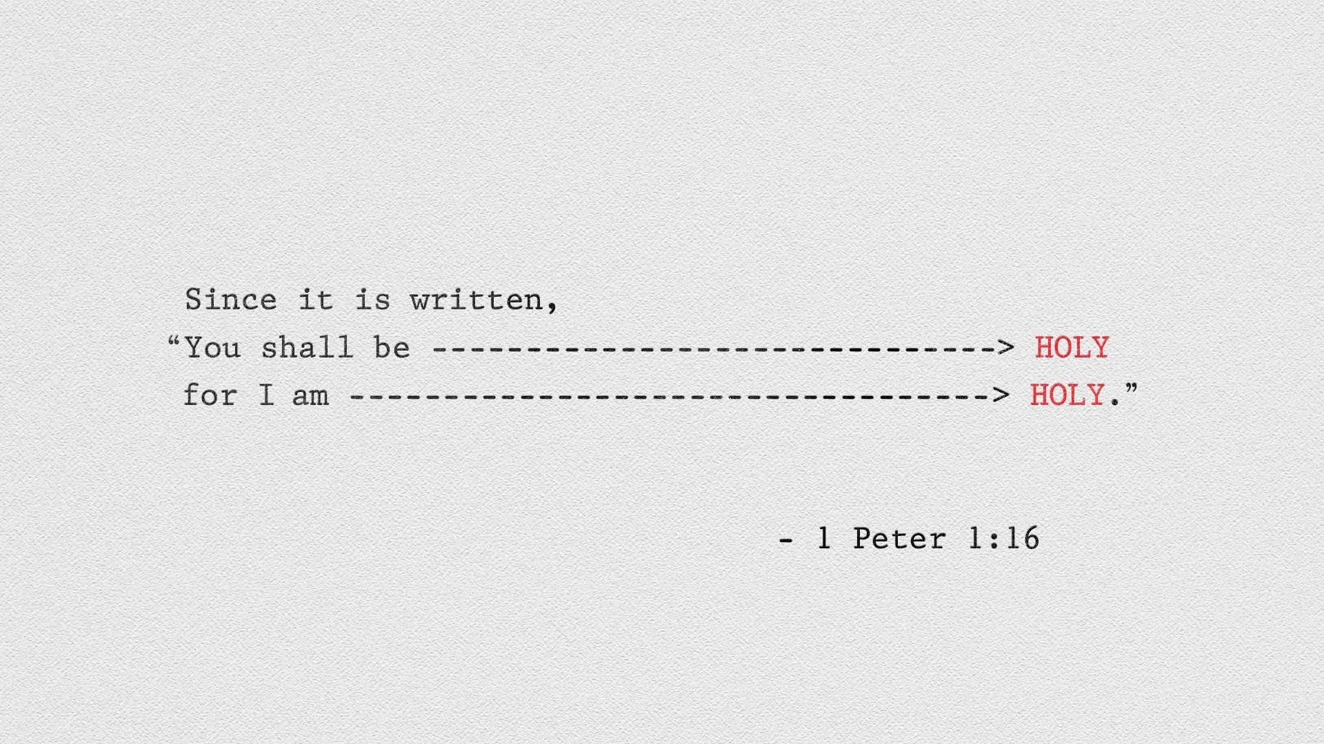 1 Peter 116 [widescreen]