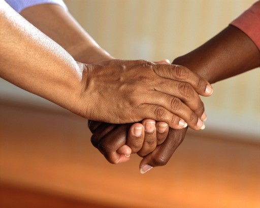 Clasped Hands Comfort Hands People Adult Friends