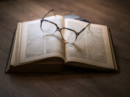 Knowledge Book Library Glasses Textbook