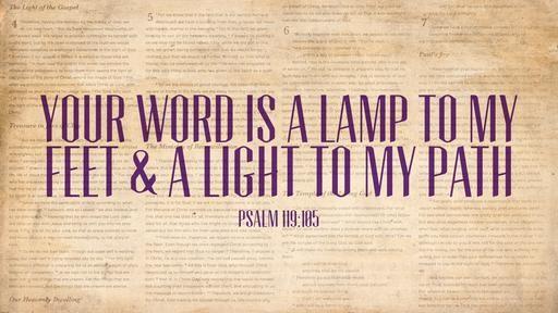 Psalm 119105 [widescreen]