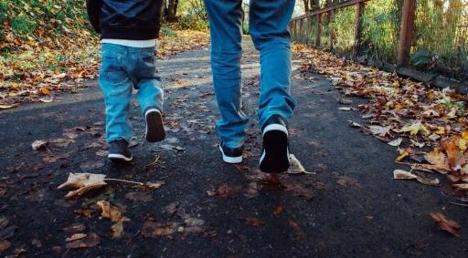 Dad Son Walking