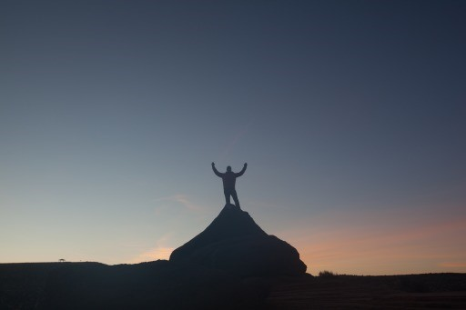 King of the hill in Arizona sunset