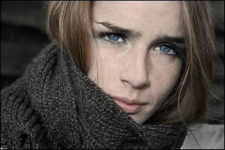 close up portrait photo of woman