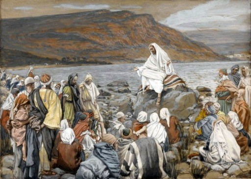 Jesus Teaches the People by the Sea